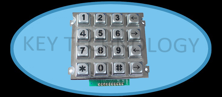 Compact format IP 65 vandal proof metal dot matrix keypad