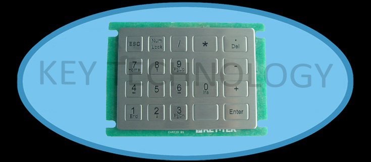 IP65 dynamic vandal proof stainless steel industrial dot matrix numeric keypad