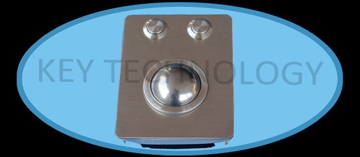 IP65 compact vandal proof stainless trackball