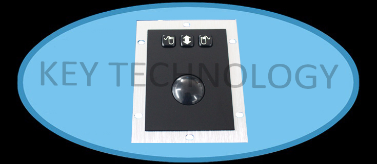 IP65 static rated vandal proof Stainless Steel industrial Trackball