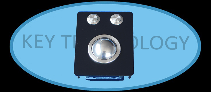 IP65 static rated compact format vandal proof stainless steel mechanical trackball