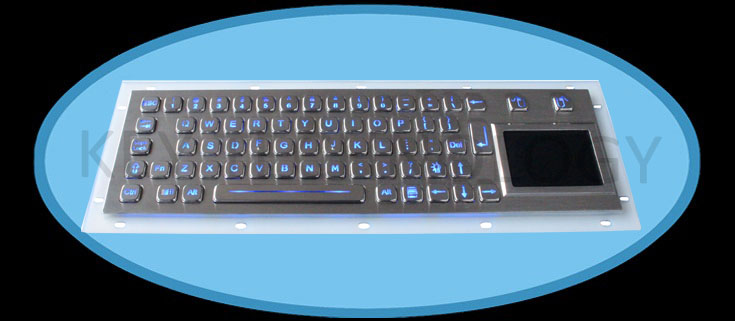 compact format IP65 static vandal proof stainless steel industrial keyboard