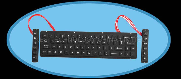 IP65 military silicone rubber keyboard