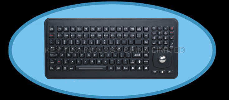 IP65 sealed & ruggedized silicone rubber keyboard