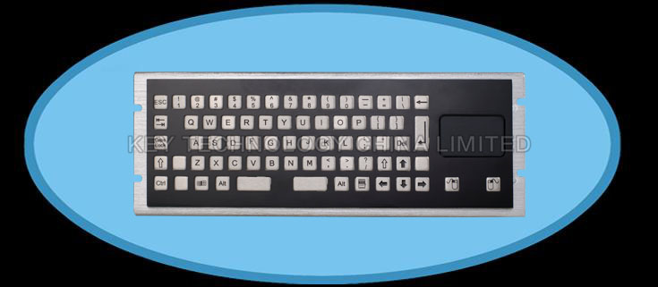 MINI IP65 static rated Compact Format Vandal Proof Stainless Steel Industrial keyboard