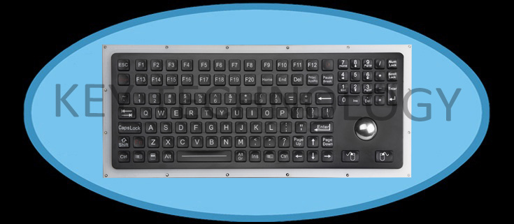 compact format IP67 dynamic water proof & vandal proof stainless steel industrial keyboard