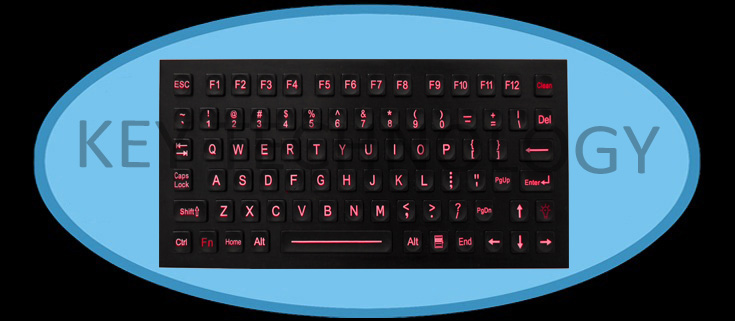 82 keys compact format IP67 dynamic water proof & vandal proof stainless steel industrial keyboard