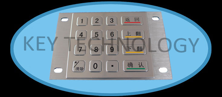 IP65 dynamic vandal proof Stainless Steel industrial dot matrix keypad