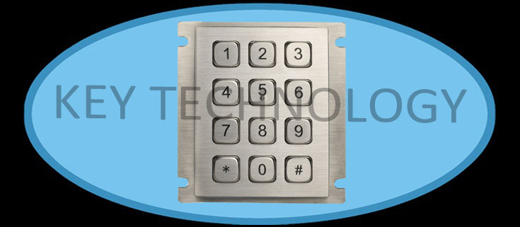 IP67 dynamic water proof and vandal proof stainless steel industrial keypad