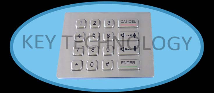 IP67 waterproof stainless industrial keypad