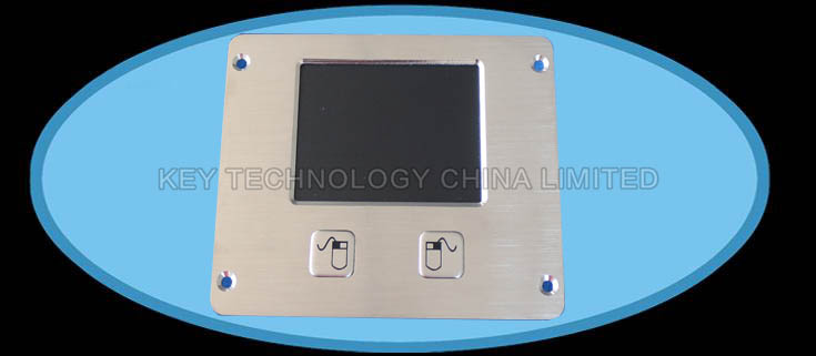 Industrial panel mount metal touchpad