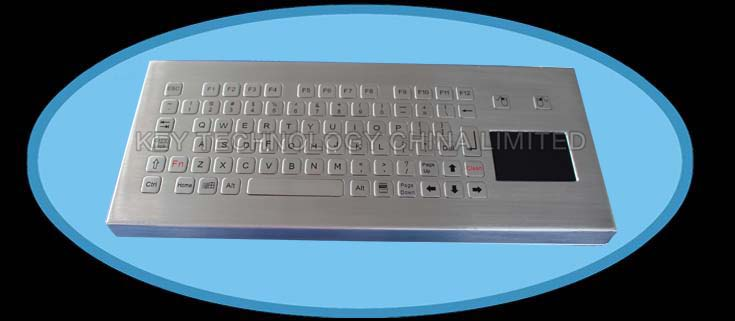 81 keys compact format IP68 dynamic sealed and ruggedized vandal proof stainless steel industrial keyboard