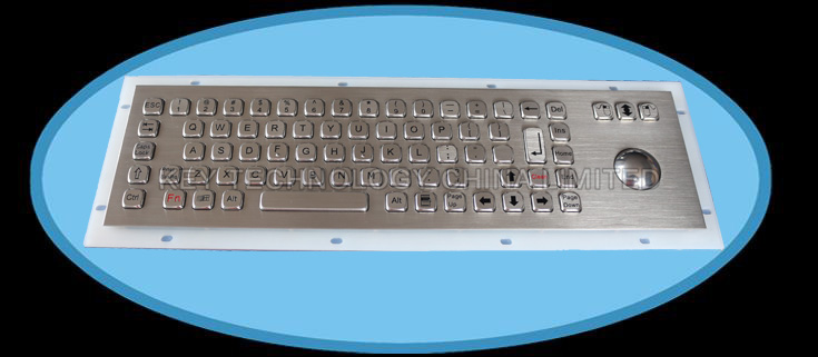 71 keys IP66 dynamic washable vandal proof stainless steel industrial keyboard
