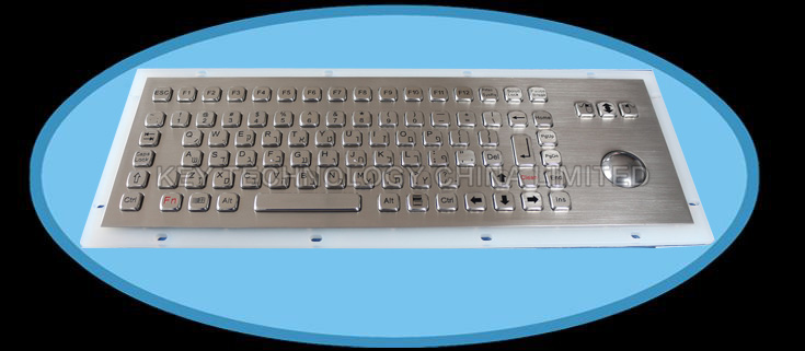 IP66 dynamic washable vandal proof stainless steel industrial keyboard