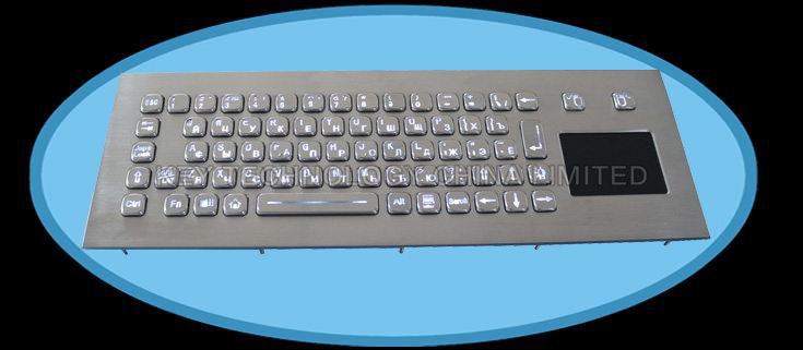 IP67 dynamic water proof backlight stainless steel keyboard