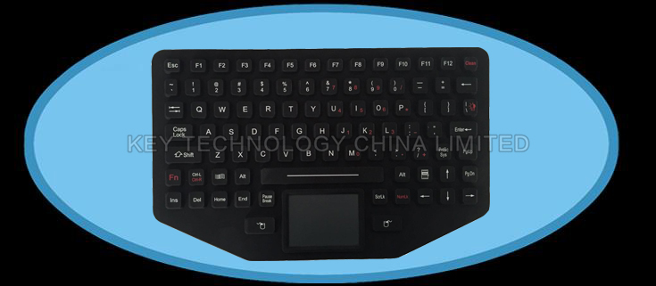 IP67 EMC military keyboard with touchpad