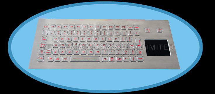 83 Keys Compact Format IP67 dynamic washable Vandal Proof Stainless Steel industrial Keyboard