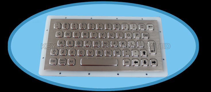 Compact format IP67 dynamic washable stainless steel industrial keyboarc