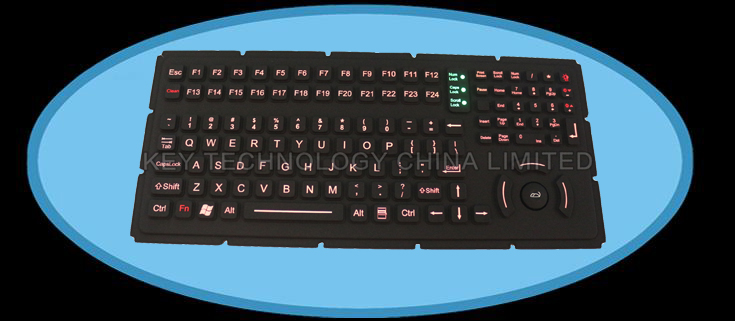 IP65 military keyboard with hula point