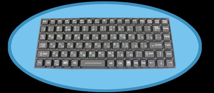 IP65 EMC military keyboard with hula point