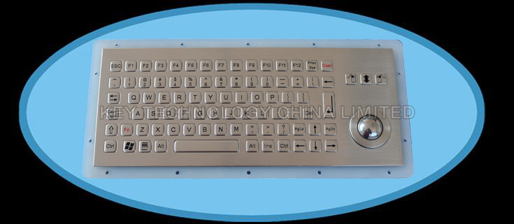 IP67 waterproof stainless industrial keyboard