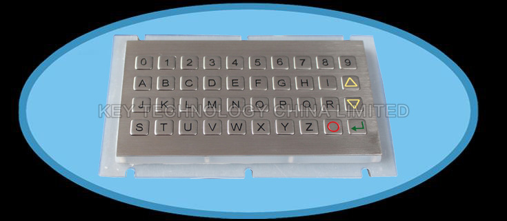 40 keys compact format IP67 dynamic water proof and vandal proof Stainless Steel industrial keypad
