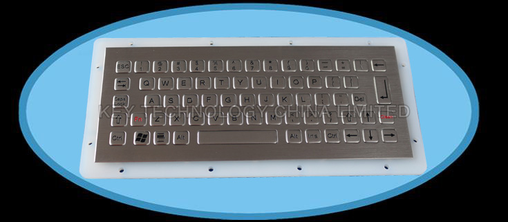 IP67 vandal proof stainless industrial keyboard