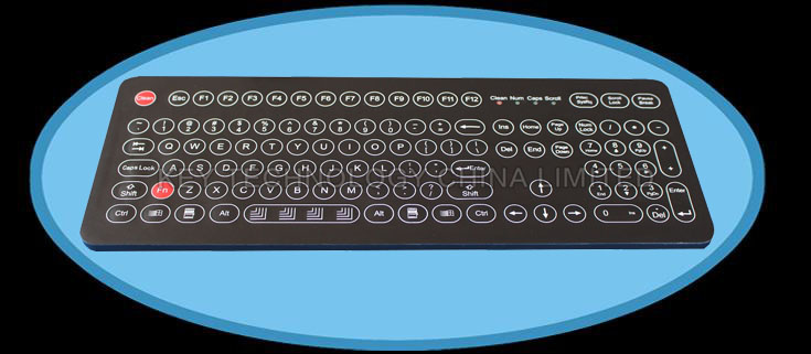IP68 washable compact industrial membrane keyboard