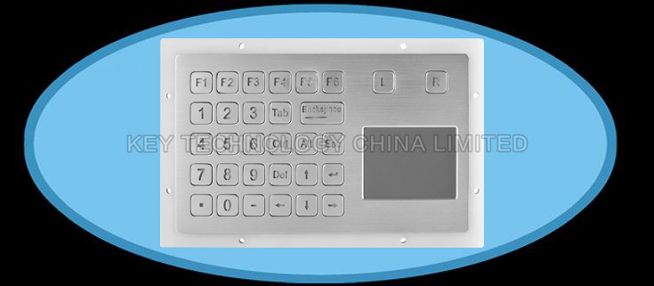 IP67 dynamic rated Vandal proof Stainless Steel industrial Touchpad