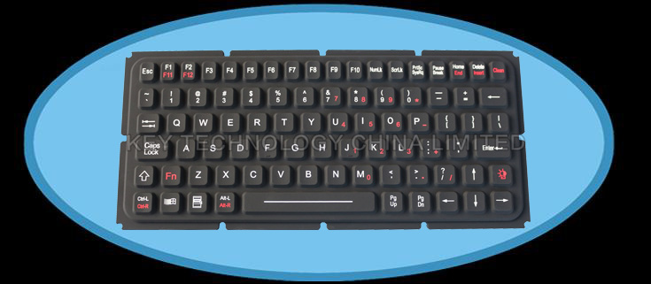 IP65 rated silicone rubber keyboard-FN