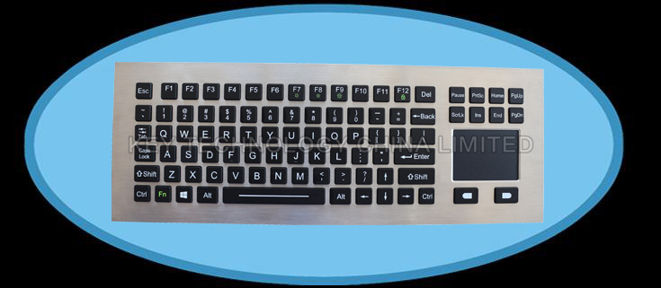 IP67 dynamic water proof vandal proof stainless steel industrial keyboard