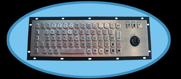 IP67 dynamic washable vandal proof stainless steel industrial keyboard