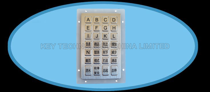 IP67 vandal proof Stainless Steel industrial  keypad