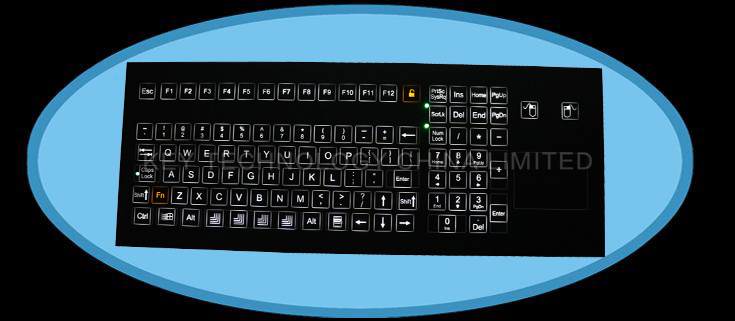 IP67 industrial membrane keyboard with keypad and function keys