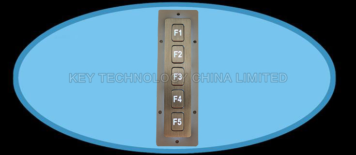 IP67 Vandal proof Stainless Steel industrial function keypad